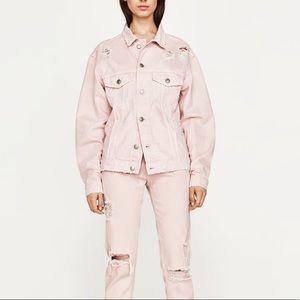 ‼️Sale‼️Zara Pink Denim Jacket